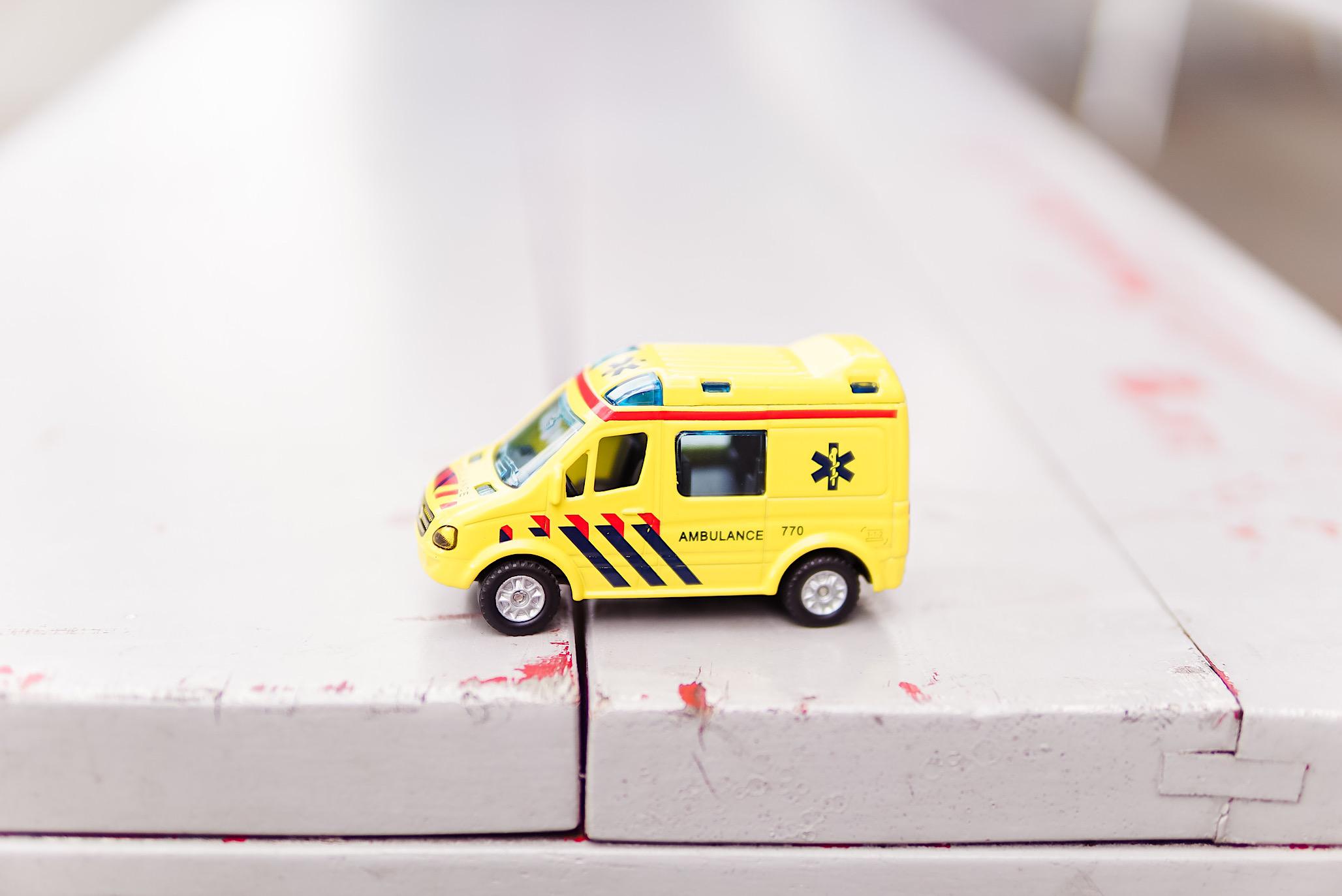 Modellino di ambulanza