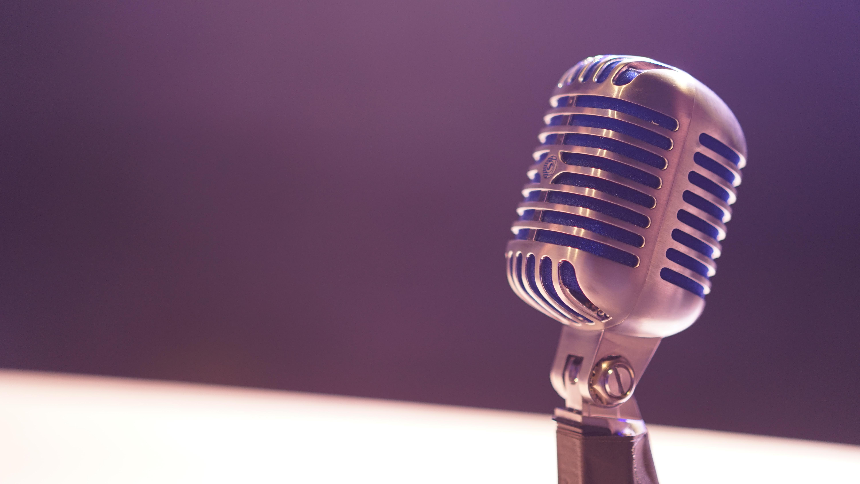 Microfono dall'aspetto vintage